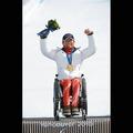 スーパー大回転座位で金メダルを獲得した狩野亮選手