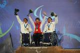 バンクーバー アルペン・ダウンヒル 銀メダル森井大輝(左) 銅メダル狩野亮(右)