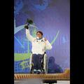 アルペンスキー男子滑降座位で銀メダルを獲得した森井大輝選手