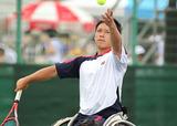 車いすテニス 眞田卓    写真提供/飯塚国際車いすテニス大会事務局