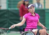 車いすテニス 二條実穂    写真提供/飯塚国際車いすテニス大会事務局