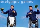 ソチ2014パラリンピック  アルペンスキー 狩野亮 鈴木猛史    写真/竹見脩吾