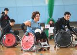 ウィルチェアーラグビー 日本代表強化合宿    写真/阿部謙一郎
