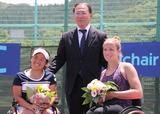 車いすテニス      JAPAN OPEN 2014      上地結衣 イスカ・グリフェン