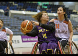 皇后杯第29回日本女子車いすバスケットボール選手権大会    写真/八木敏久