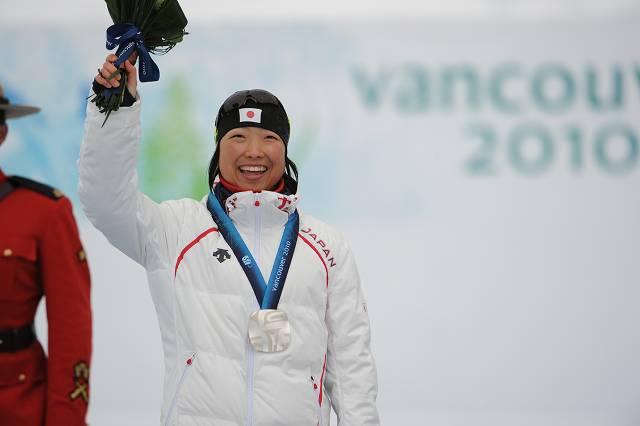 バンクーバー  1キロスプリント立位で銀メダルを獲得した太田渉子選手