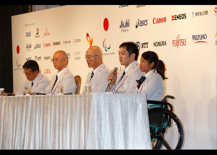 リオデジャネイロパラリンピック日本選手団 記者会見    写真/阿部謙一郎