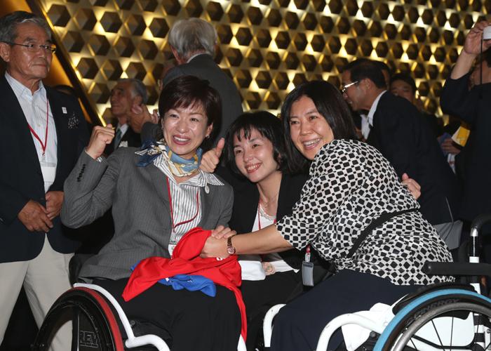 2020年オリンピック・パラリンピック開催都市決定  写真/阿部謙一郎