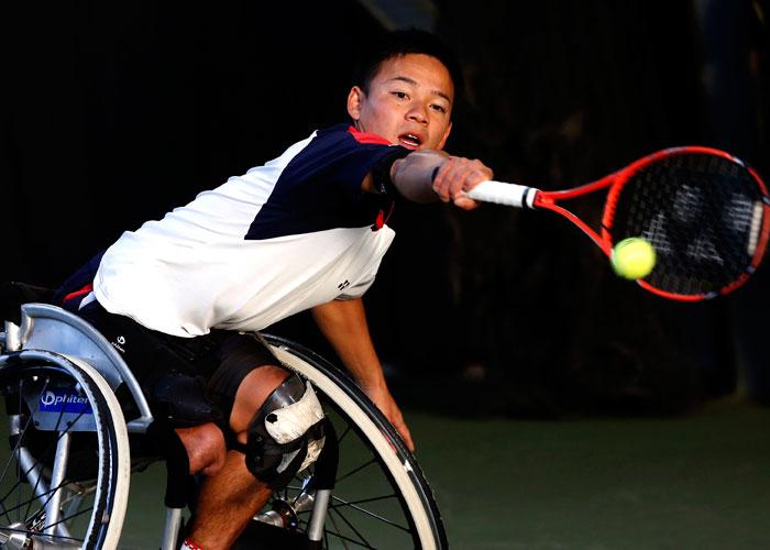 第24回NEC全日本選抜車いすテニス選手権大会    写真/竹見脩吾