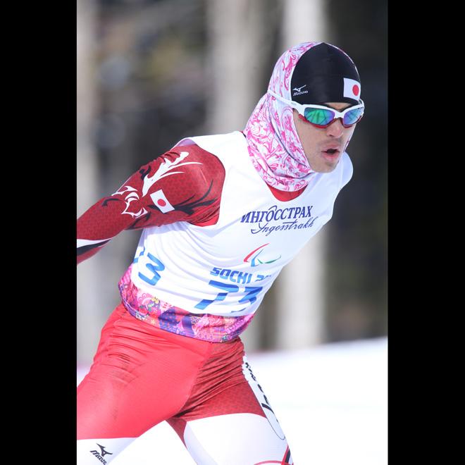 ソチ2014パラリンピック クロスカントリースキー 佐藤圭一  写真/阿部謙一郎