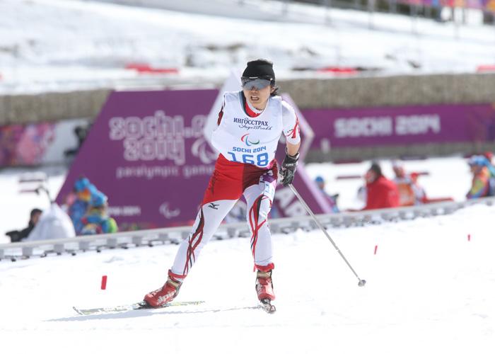 ソチ2014パラリンピック クロスカントリースキー 出来島桃子 写真/阿部謙一郎