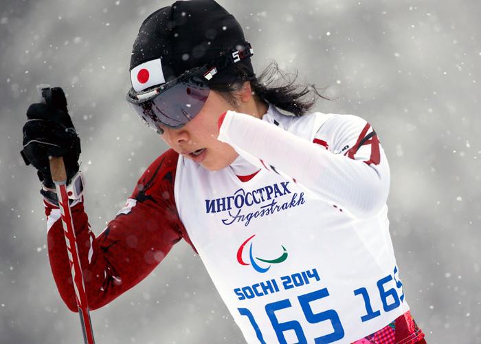 ソチ2014パラリンピック  クロスカントリースキー 太田渉子  写真/竹見脩吾