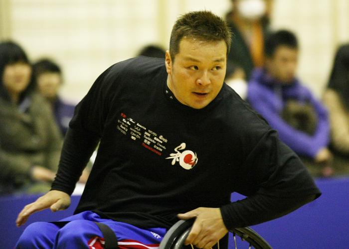 車椅子バスケットボール 京谷和幸    写真/阿部謙一郎