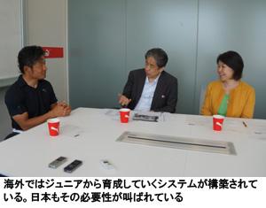 海外ではジュニアから育成していくシステムが構築されている。日本もその必要性が叫ばれている