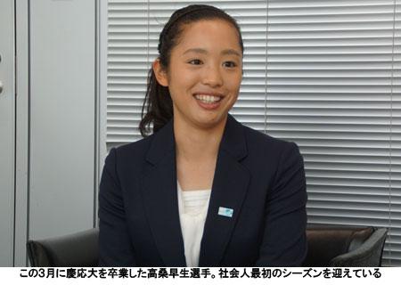 この3月に慶応大を卒業した高桑早生選手。社会人最初のシーズンを迎えている