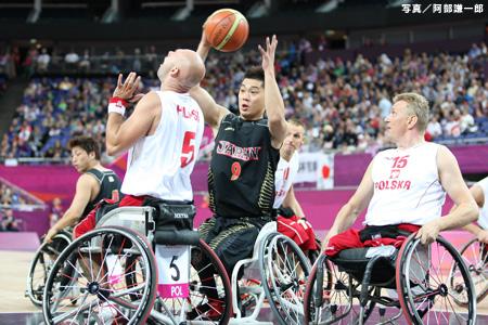 写真:ロンドン2012パラリンピック 車椅子バスケットボール予選リーグ初戦 日本対ポーランド戦 阿部謙一郎撮影