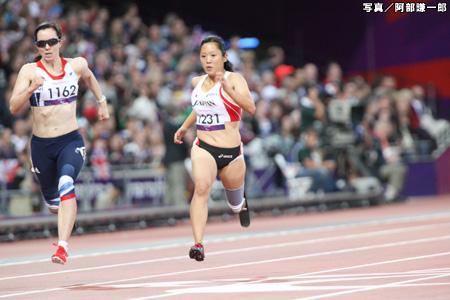 写真:ロンドン2012パラリンピック 陸上競技 高桑早生 阿部謙一郎撮影