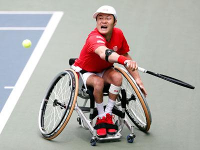 肘の手術からの復帰戦、手応えを口にした国枝慎吾選手。