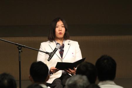 平昌冬季パラリンピック日本選手団大日方邦子団長
