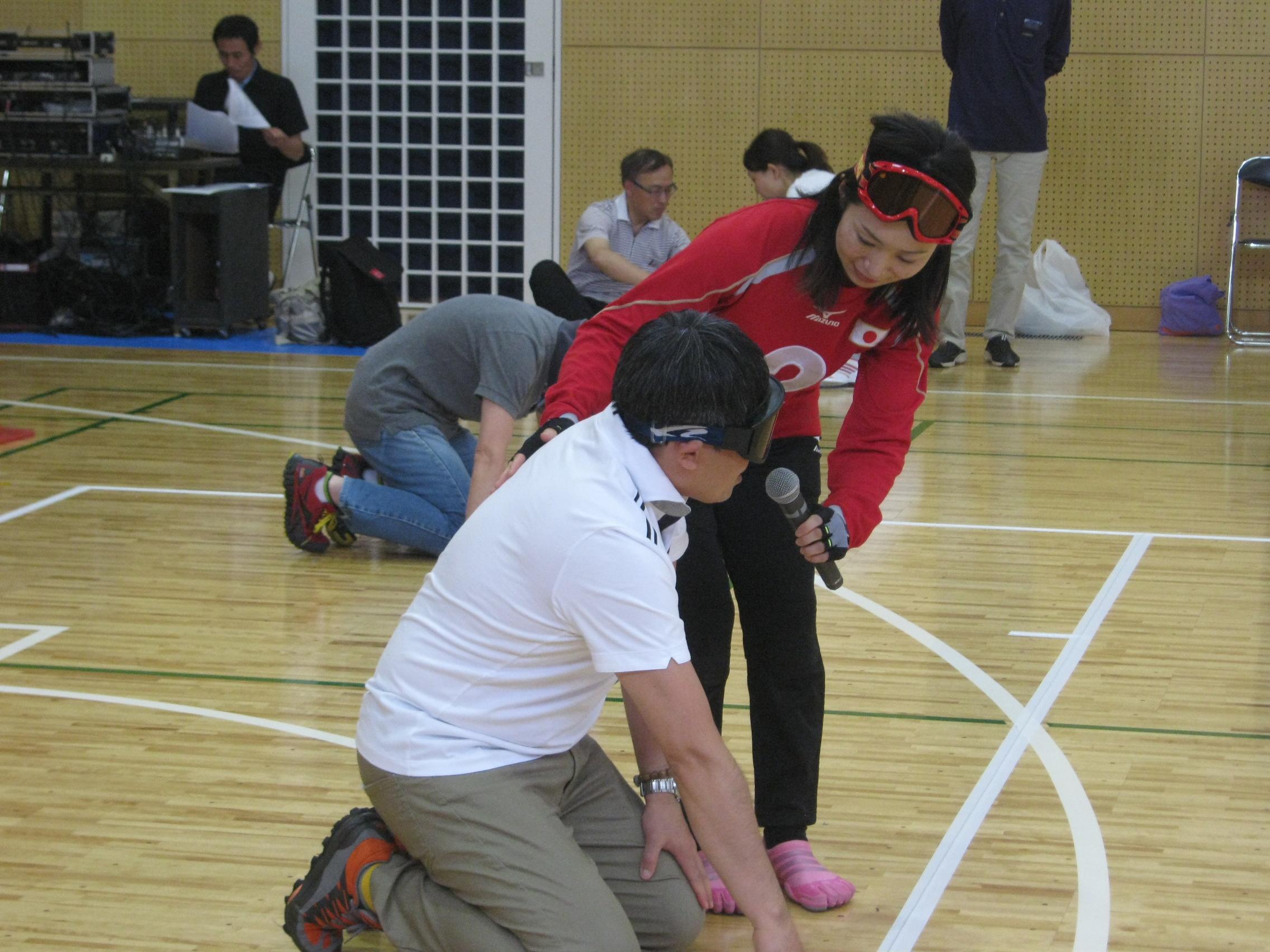 体験会を大いに盛上げてくれた浦田選手。